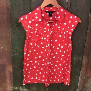 Marc by Marc Jacobs polka dot button up shirt